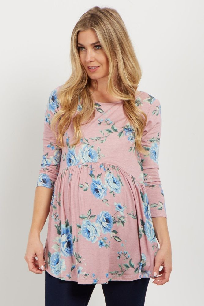 This adorable babydoll top is everything you need this year. A cute and casual long sleeve top for warmth with a babydoll style for a flattering silhouette. You can style this simply gorgeous maternity top with maternity jeans and flats for a look you can wear to every occasion.