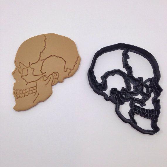 Crâne anatomique Cookie Cutter 3D imprimés par BoeTech sur Etsy