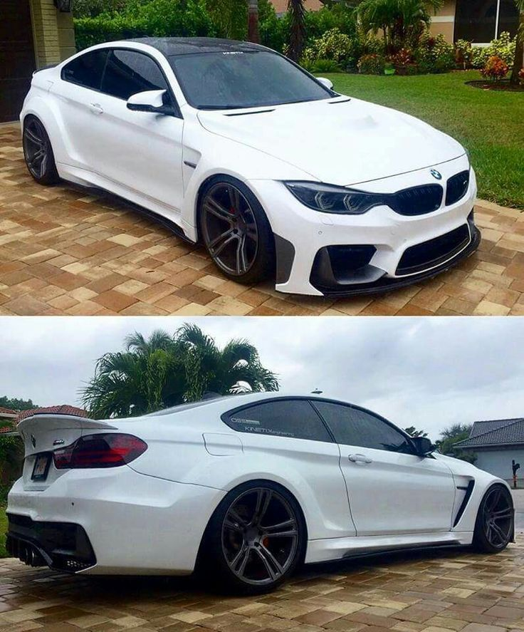 BMW F82 M4 white widebody.  Maybe someday I'll get one of these.