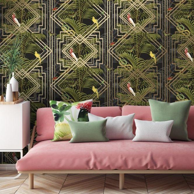 Eden Tropical Wallpaper Black Tropical Wallpaper Wallpaper Wallpaper Uk