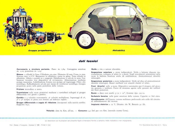 1957 FIAT 500 Brochure