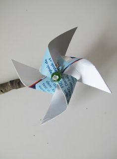 Windrad aus Tetra Pak / Pinwheel made of beverage carton