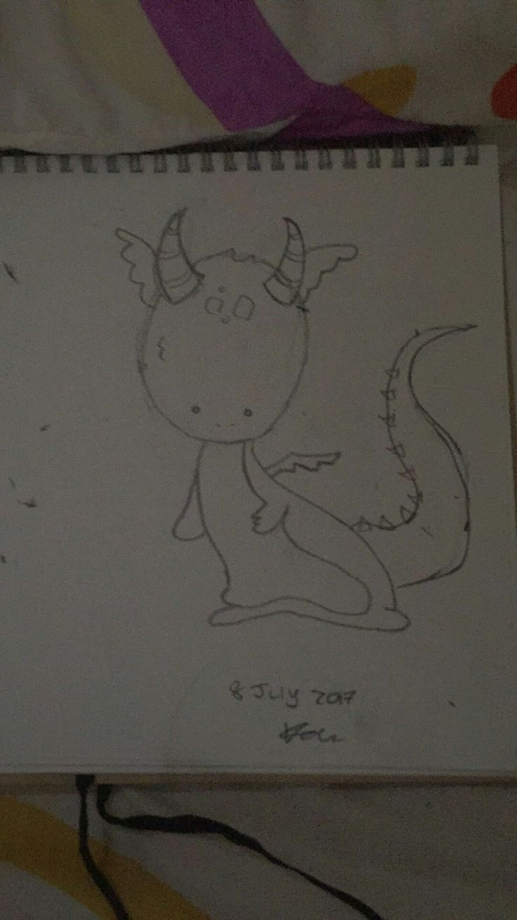 Cute tiny baby dragon >∆< #sketch