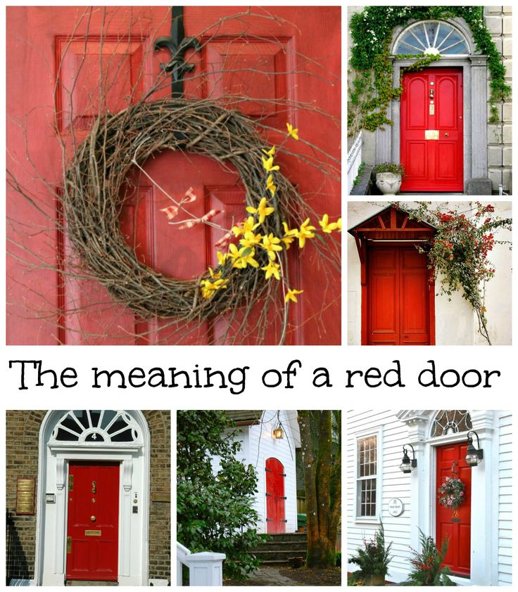 What Does Having A Red Door Mean Red Front Doors Will