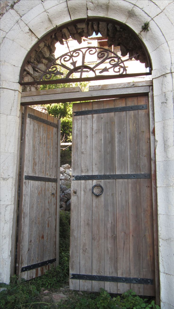 A wooden door at Dimitsana, a traditional village in Peloponnese