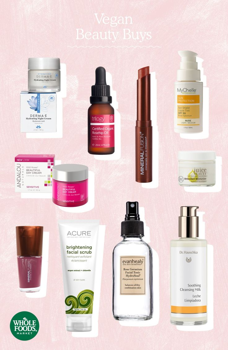 Top 10 Vegan Beauty Buys // Did you know we only sell beauty products that haven't been tested on animals?! Our top vegan beauty products (essential oils, naturally scented soaps, makeup and more!) also don't contain any animal-derived ingredients such as beeswax, lanolin or carmine. These top 10 vegan beauty buys meet our strict quality standards for humans, too — we ban more than 75 common ingredients allowed in other beauty and personal care products.