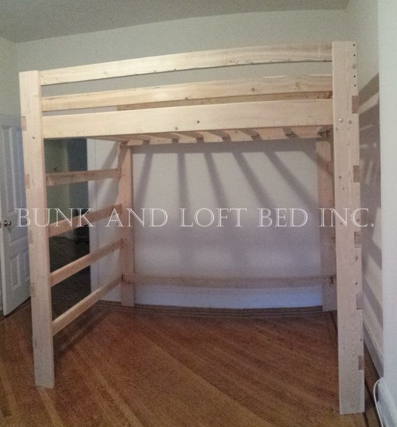 extra tall supreme twin size loft bed with double youth safety rails