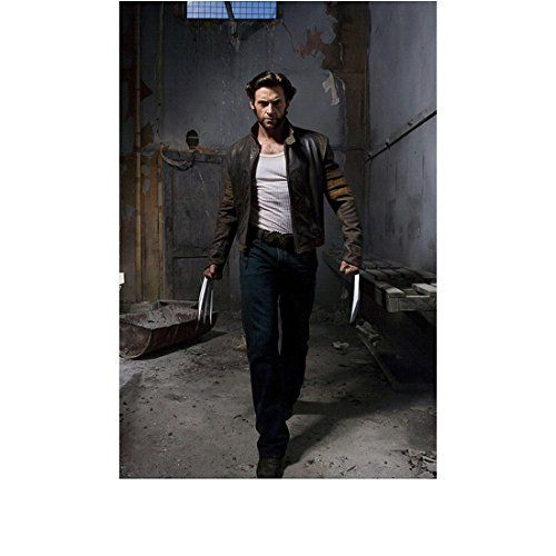 X-Men Origins: Wolverine (2009) 8 inch by 10 inch PHOTOGRAPH Hugh Jackman Leather Jacket Over White  @ niftywarehouse.com #NiftyWarehouse #Xmen #Marvel #X-Men #Comics #Geek #ComicBooks