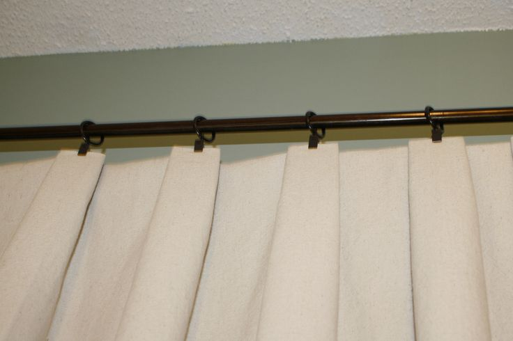 Drop Cloth Curtains (and how to add pleats to make them look more finished)