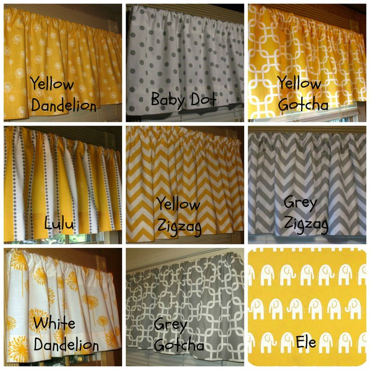 Window Curtain Valance Premier Prints Corn Yellow and Grey Collection ...