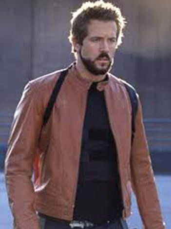 Ryan Reynolds Jacket for sale at Affordable Price $189.99 Buy Online Hollywood Movie Blade Trinity Brown Leather Jacket role as Hannibal King. #ryanreynoldsjacket #bladetrinity #ryanreynolds #hannibalking #brownjacket #mensjacket #jacket