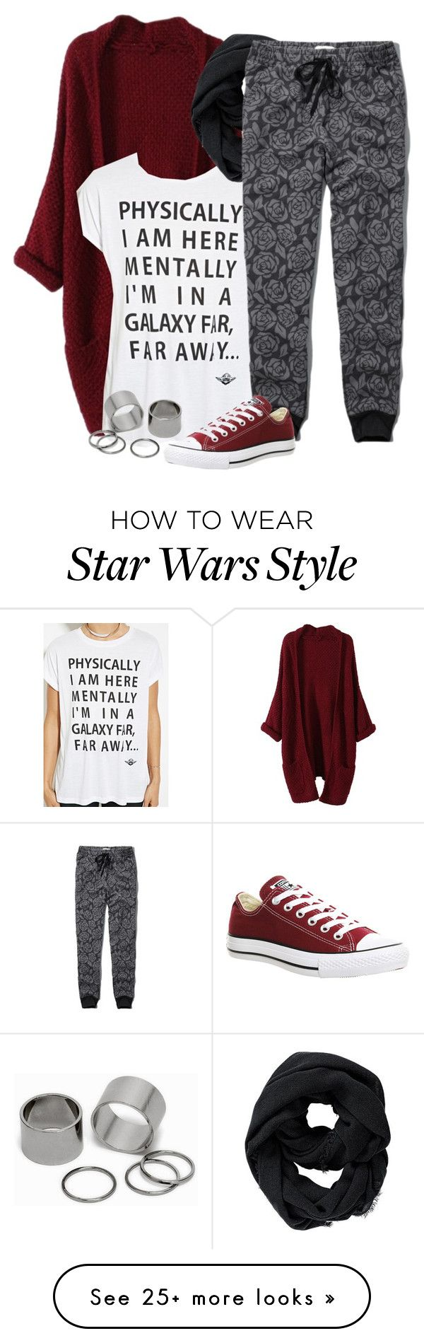 """Mentally I'm in a galaxy far far away."" by birdofparadise25 on Polyvore featuring Forever 21, Athleta, Abercrombie & Fitch, Converse, Pieces, women's clothing, women's fashion, women, female and woman"