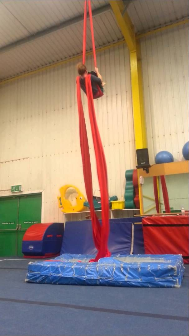 Lucy aerial silks practice