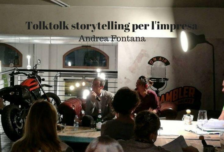 Pillole di #Storytelling per l'impresa al Tolktolk   #TolkTolk http://www.insocialmedia.it