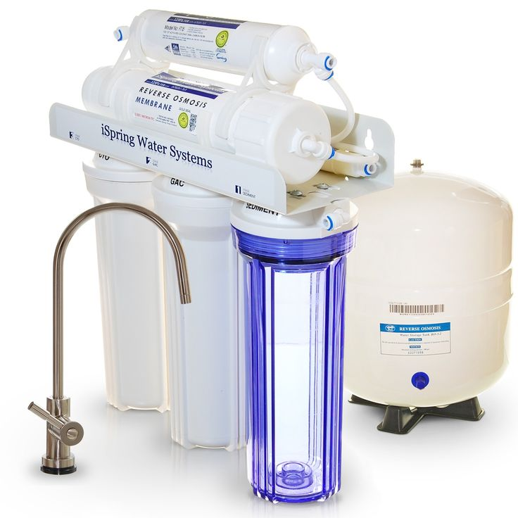 5 Stage Reverse Osmosis RO Water Filter System 75 GPD Membrane Extra filters