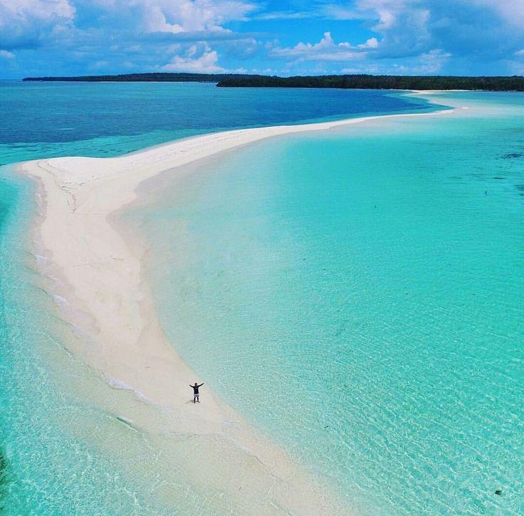 Ngurtafur beach in Warbal Island, Southeast Maluku, Indonesia. The beach is not�