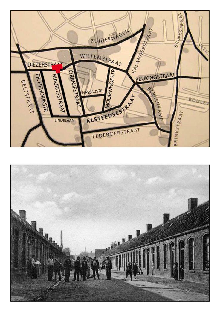 Mauritsstraat vanaf de Diezerstraat richting Lindelaan.