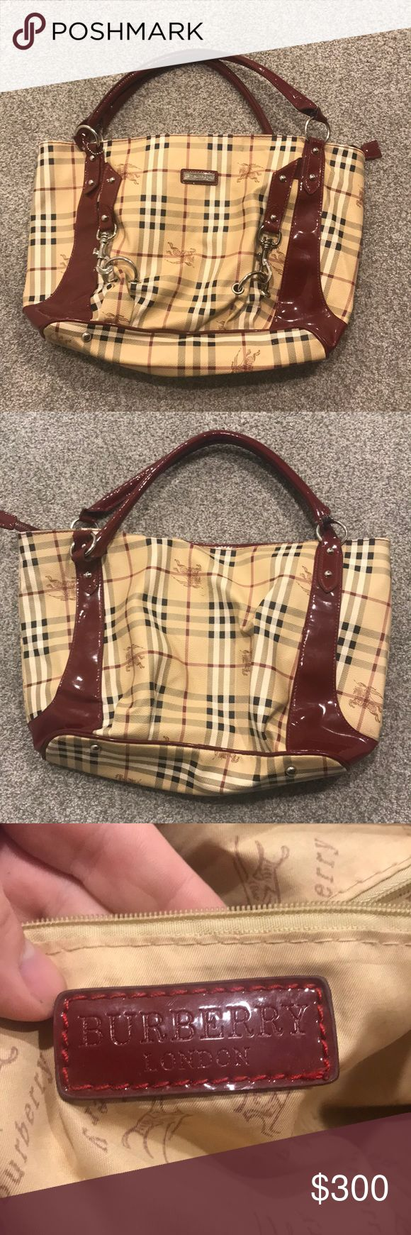 burberry purse this handbag screams luxury, it is so sturdy and well made! burberry is thick and made to last long! going for a great price! Burberry Bags Shoulder Bags