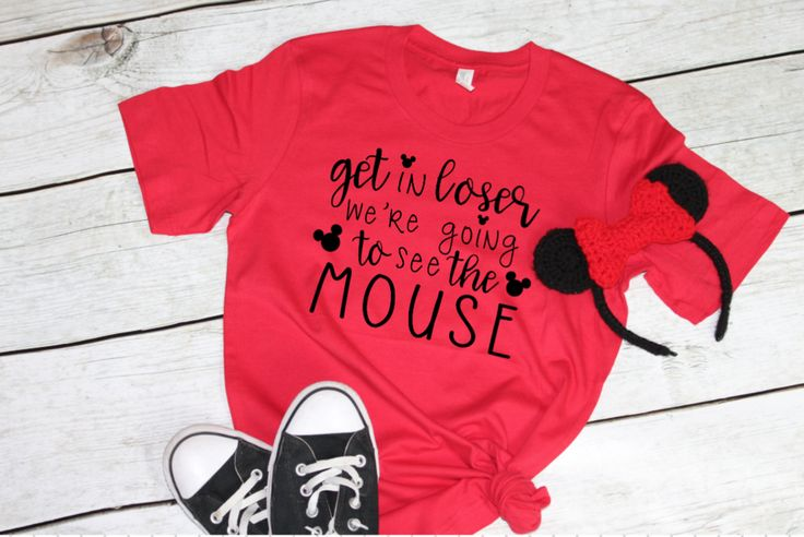 PRE-ORDER SHIP DATE 10/30 - Get in Loser we're Going to see the Mouse - Disney Mean Girls Shirt -  Red