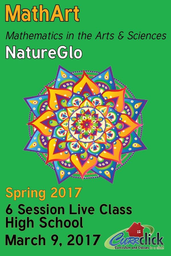 """Secular high school homeschool math live online with NatureGlo. In this live online math course, we investigate famous """"mathart"""" M.C. Escher, math and music and the golden ratio of the human body."""