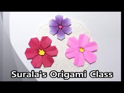 Origami - Cosmos (Mexican Aster) / 종이접기 - 코스모스 꽃
