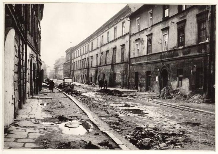 50 lat temu. Ulica św. Józefa, fot. Daniel Zawadzki, 1964.