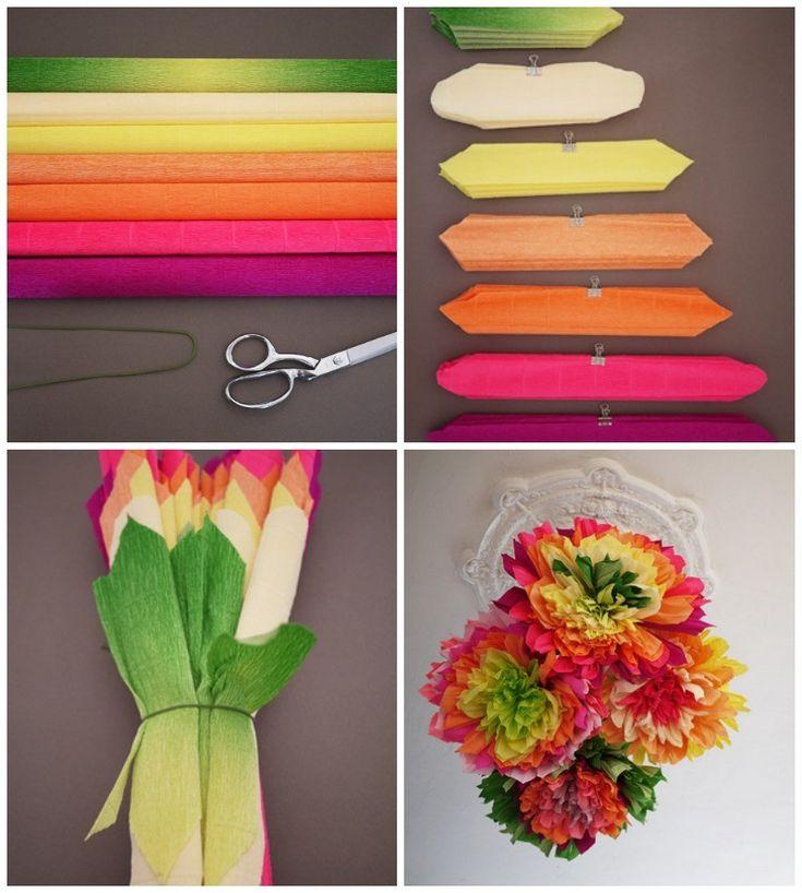 DIY pompones de flores para fiestas