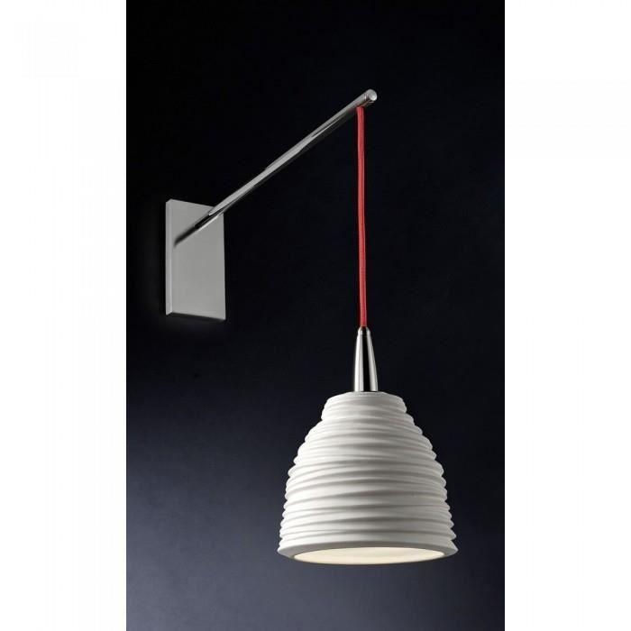 Applique design blanche Porcelain ATYLIA Couleu… - Achat / Vente Cette lampe applique blanch… Porcelaine, tissu, métal - Cdiscount