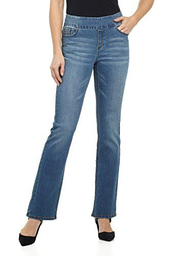 "Rekucci Jeans Women's ""Ease In To Comfort Fit"" Pull-On Stretch Bootcut Denim Pants >>> Want to know more, click on the image."