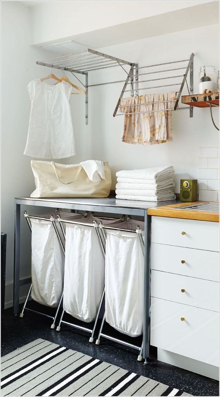 I really like a lot of these. 10 Clever Ideas to Store More in Your Laundry Room 5