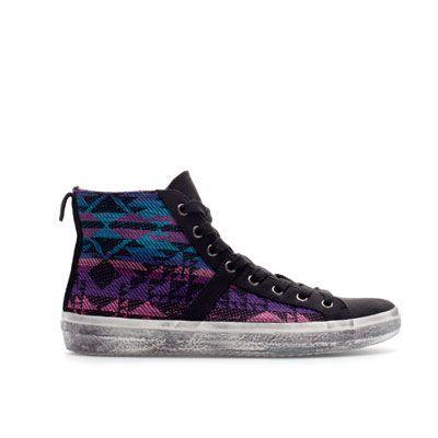 ETHNIC PATTERN HIGH - TOP SNEAKER - Shoes - TRF | ZARA Romania