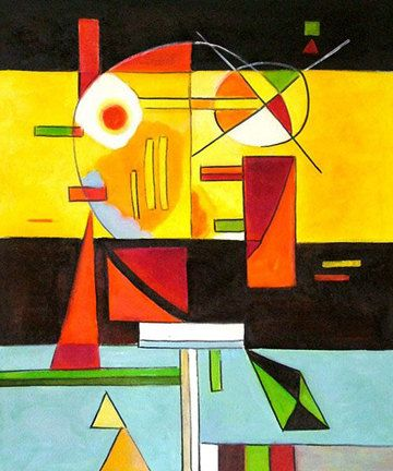 Needlepoint canvas. Abstract Tension by Wassily Kandinsky. Abstract needlepoint. Fun canvas!
