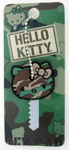 Loungefly Hello Kitty Camo Rubber Key Cap Cover Camoflauge Khaki