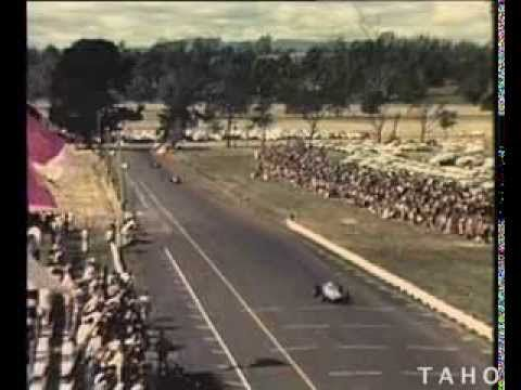 The thrills of motor racing at its best on Australia's only continental round the houses circuit - international stars and local drivers compete each year for racing honors at Longford in Northern Tasmania. (1964)