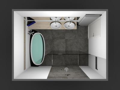 31 best badkamer idee images on pinterest bathroom ideas room and design bathroom - Badkamer kamer model ...