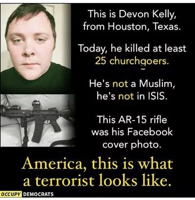 Mass Murderer who stole the lives of 26 people in Church today.
