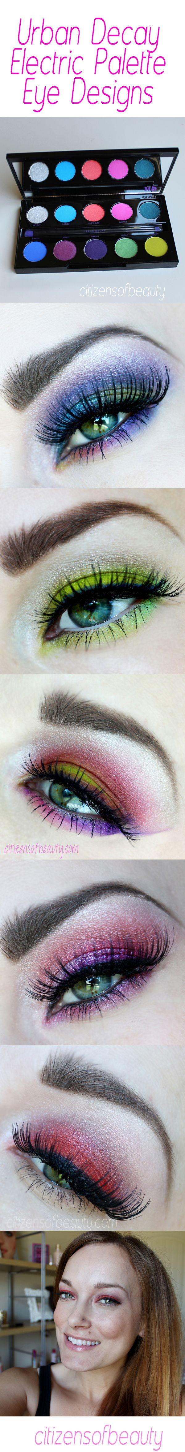 Urban Decay Electric Palette Eye Designs1 How to Use the Shockingly Bright Urban Decay Electric Palette