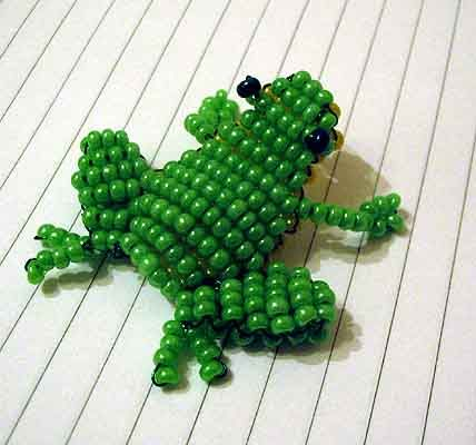 beaded frog                                                                                                                                                                                 More
