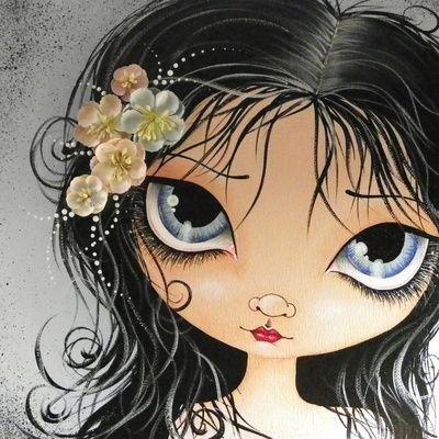 Blue Eye Girl Art Print