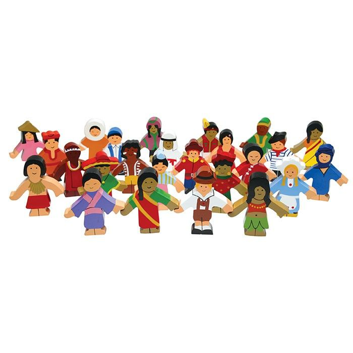 Children of the World Wooden Set of 25