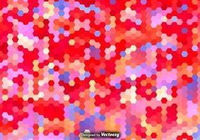 Vector Hexagonal Colorful Pattern