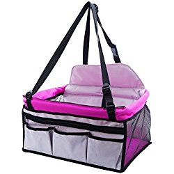 EXPAWLORER Dog Booster Seat Carrier for Car, Multi Function Deluxe Travel Bag for Small Dogs