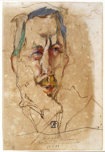 Horst Janssen, Portrait of a lawyer (1989)