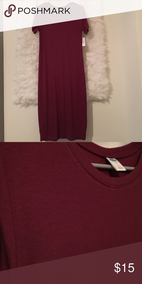 Old navy petite midi dress Garnet short sleeve midi dress in Medium petite Old Navy Dresses Midi