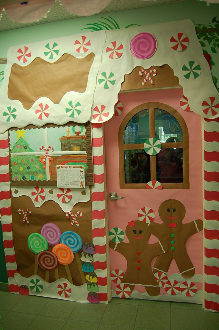 Gingerbread Holiday Doors Pinterest Christmas