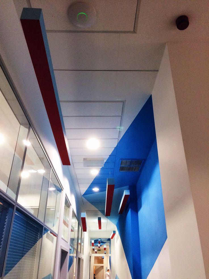 20 Meters High : Meters long high painted wall and hanged