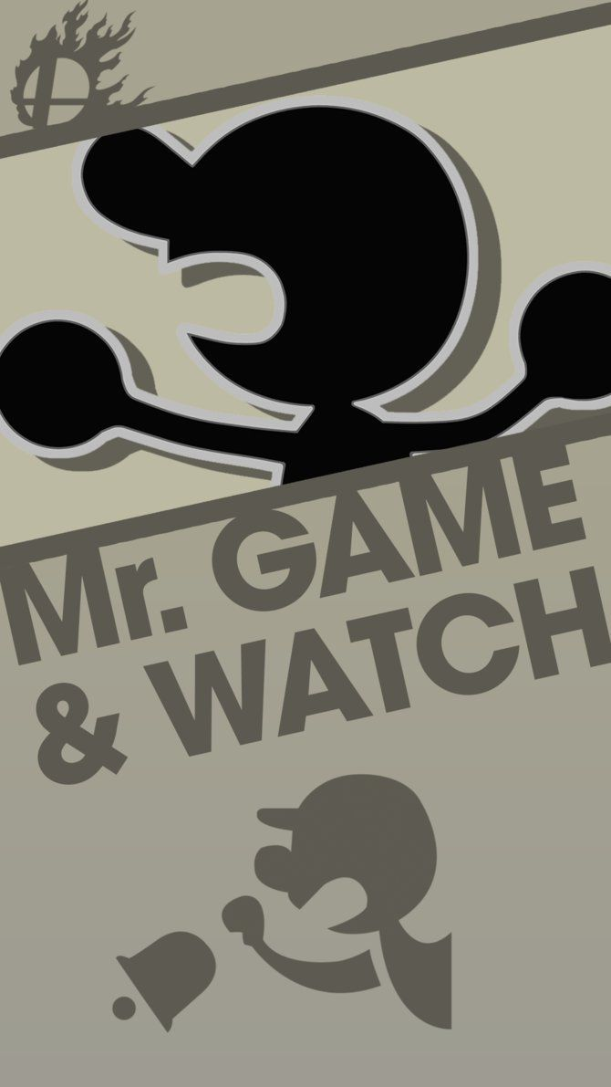 Mr Game And Watch Smash Bros Phone Wallpaper By Mrthatkidalex24