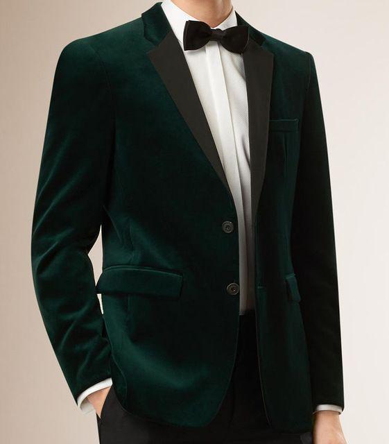 Mens Velvet Blazers Custom Made Slim Fit Dark Green Velvet Blazer Men, Tailored… http://www.99wtf.net/men/mens-accessories/shop-type-shoes/