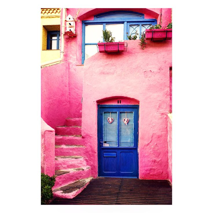 Pink house in France