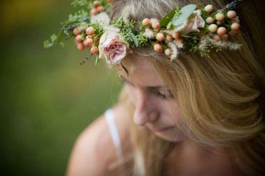 Coroas de flores para noivas [Foto]